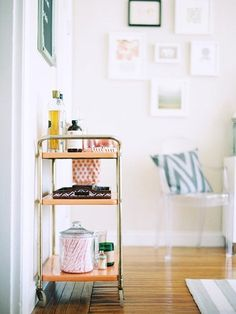 Be Ready to Entertain: High-end and Budget Bar Cart Inspiration, Buys & DIYs