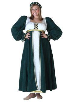 Elegant Plus Size Renaissance Dress