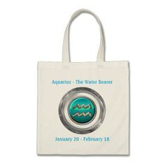 The Water Bearer - Aquarius Horoscope Sign Tote Bag Aquarius Horoscope d3b47e27bafdc