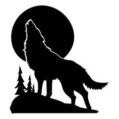 Wolf - Coyote Die Cut Vinyl Decal PV293 Wolf Silhouette, Metal Clock, Metal Wall Art, Wolf Stencil, Coyote Tattoo, Desenho Tattoo, Bear Paws, Wolf Tattoos, Gravure