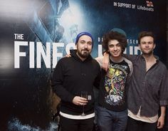 Dru Wakely, Stefan Abingdon, and Ash Horne (The Midnight Beast) at the premiere of The Finest Hours.