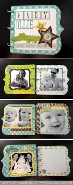Echo Park Bundle of Joy- Boy. Handmade Scrapbook, Baby Boy Scrapbook, Scrapbook Journal, Mini Scrapbook Albums, Baby Photo Books, Baby Mini Album, Echo Park Paper, Mini Books, Baby Cards