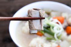 Vietnamese Pork Spare Rib Potato Soup, (also known as Canh Suon Khoai Tay in Vietnamese)