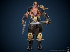 chsjacinto — Barbarian. BarbarianI am making this model for the course of characters for 3D games for next-gen Render Courses company. Polycount: 100k Tri.DVD1 - http://www.render.com.br/curso/personagens-3d-para-games-anatomiaDVD2 - http://www.render.com.br/curso/personagens-3d-para-games-acessorios-e-armasDVD 3