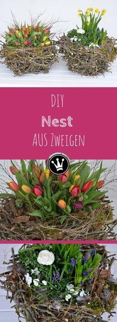 Hier zeige ich euch eine tolle Frühlingsdeko / Osterdeko! Ein XXL Nest aus Zweigen, dass ihr ganz einfach aus Zweigen selber machen könnt. Zweige und Äste fallen jetzt im Frühjahr beim Baum-, Hecken- und Strauchschnitt zur Genüge an, das Material gibt es also gratis :)