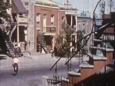 Montréal (1ère partie), 1957, Archives de la Ville de Montréal Quebec Montreal, Old Montreal, Montreal Ville, Quebec City, Interesting History, Old Pictures, Places, Industrial, Outdoor