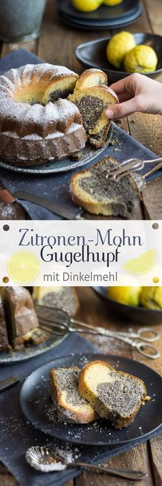 Lemon bundtcake with poppy seeds /// Zitronen-Mohn-Gugelhupf