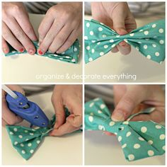 Emilee likes... No Sew 3 Minute Hair Bows - Organize and Decorate Everything