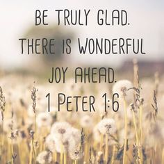 There is wonderful joy ahead