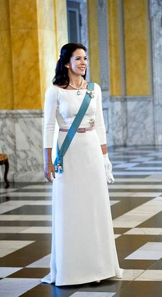 HRH Crown Princess Mary at the 2nd 2016 New Years Court in Denmark