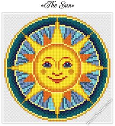 This digital PDF counted cross stitch pattern is an instant download so you can start stitching today! Pattern Info: - Fabric: white Aida; - Size: 75 x 75 stitches; - Stitches required: full cross stitches only; - Colors: 12 DMC floss colors. Use 2 strands of thread for cross