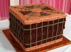 "Chocolate cake, chocolate butter cream icing.  4 12"" layers of cake"