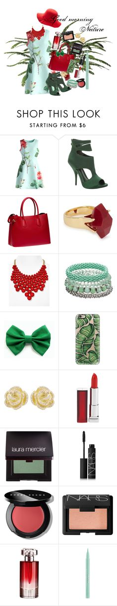 """""""Good morning Nature <3"""" by dancelover-567 ❤ liked on Polyvore featuring Chicwish, Max Studio, Prada, Lola Rose, Aqua, Mudd, Casetify, Effy Jewelry, Maybelline and Laura Mercier"""