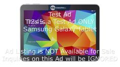 Test Ad / Samsung Galaxy Tablet Landscape / Edit