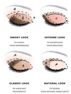 How to create a smoky look makeup, an intense look makeup, a classic makeup and a natural look makeup - FirmaBeauty.com