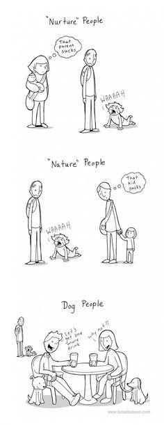 Nature People Vs. Nurture People Vs. Dog People [Comic]