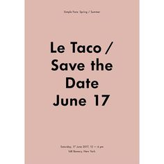 a taco pop up in NYC by sunday suppers and simple fare karen mordechai june 17 2017 open to all !