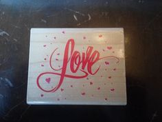 """Posh Impressions Rubber Stamp """"Love and Hearts""""  #poshimpressions #loveandhearts"""