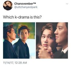One where they each get murdered by jealous Bacon and Satansoo if they don't stop looking at each other like that 😂 Exo Ot12, Exo Xiumin, Chanbaek, Kaisoo, Funny Kpop Memes, Exo Memes, Drama Funny, Meme Pictures, Korean Entertainment