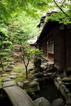 """traditional-japan: """"Via Pinterest """" #Japanesegardens #JapaneseGardens"""