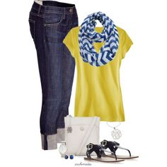 Yellow and blue; I'd even wear that (and I normally don't like blue)