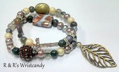 Nature's Beauty Cross Beaded Bracelet by RandRsWristCandy on Etsy, $9.00  *WEEKEND SALE! TAKE 15%OFF YOUR PURCHASE + FREE U.S. SHIPPING! USE CODE: BLK15*