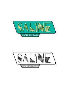 https://flic.kr/p/DgKbNq | Saline Paper Company Official Logo | A digital view of the Saline Paper Company logo in a full-colored, and black and white version.