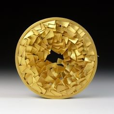 Jacqueline Ryan: Round Brooch with overlapping elements