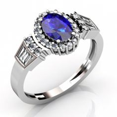 14K White Gold Tanzanite #Ring  Price: $1524.