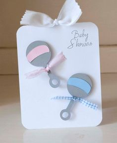 Twins Baby Shower Invitations Thank You Notes by CardinalBoutique