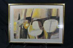 Stunning Original Framed Signed Robert Andrew Parker Watercolor Abstract