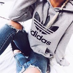 Adidas Women Shoes - Fashion Adidas Print Hooded Pullover Tops Sweater Sweatshirts - We reveal the news in sneakers for spring summer 2017 Mode Outfits, Winter Outfits, Casual Outfits, Summer Outfits, Christmas Outfits, Girly Outfits, Christmas Time, Ladies Outfits, Grunge Outfits