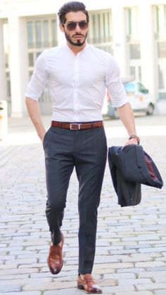 Formal men outfit - 5 Smart Formal Outfits For Men – Formal men outfit Hipster Style Outfits, Stylish Mens Outfits, Casual Work Outfits, Hipster Fashion, Work Casual, Men Casual, Simple Outfits, Men's Formal Fashion, Work Outfit Men