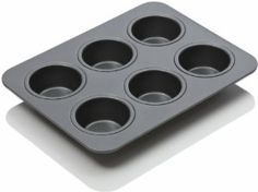Chicago Metallic Non-Stick 6 Cup Toaster Oven Muffin Pan by Chicago Metallic. $5.95. Dishwasher safe; 25-year warranty. Easy release, non-stick coating for ease of baking and cleanup. 6 Cup oven muffin pan designed for a toaster oven. Classic Chicago metallic quality construction designed in a smaller sized pan. Pan measures 8 by 6-inch; each cup measures 1-1/2 by 1-inch. Chicago Metallic is the preferred choice by bakers who understand quality, design and durab...