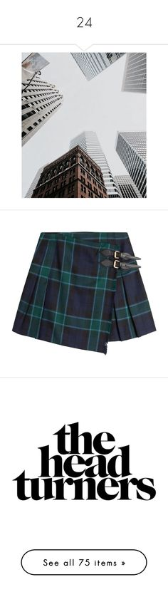 """""""24"""" by scelestum ❤ liked on Polyvore featuring highfashion, January, 2017, OneOfMany, skirts, bottoms, green, tartan a line skirt, tartan skirt and a-line skirt"""