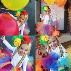 girl clown costume | Girl Halloween costume idea. Tutu clown | Fall