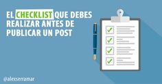 ¿Quieres publicar un post perfecto? Después de escribirlo debes hacer una revisión completa para optimizarlo todo lo posible. ¡Sigue el Checklist definitivo!