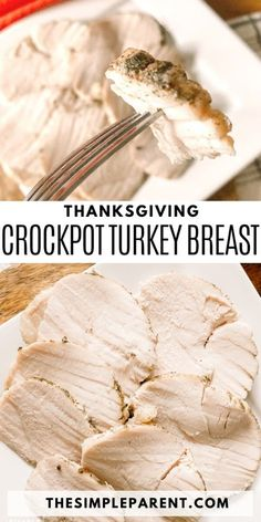 Crockpot Turkey Breast Recipe. It's easy to make turkey for Thanksgiving and Christmas dinner with help from your Crockpot! The turkey is the star of the show and if you're looking for an easy way to get it on the table this year, you've got to try making Slow Cooker turkey breast! This is an easy recipe for your holiday meal, you won't regret cooking turkey in a slow cooker instead of the oven. Check out this recipe idea and tips for the best turkey! #turkey #slowcooker #crockpot… Turkey Breast In Crockpot Recipe, Breast Recipe, Traditional Thanksgiving Recipes, Thanksgiving Side Dishes, Thanksgiving Turkey, Stuffing Casserole, Turkey Casserole, Slow Cooker Recipes, Crockpot Recipes