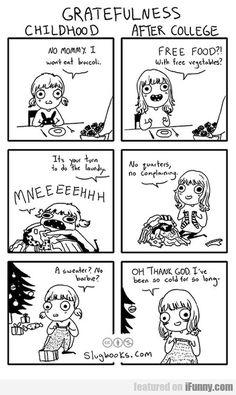 Gratefulness In Childhood