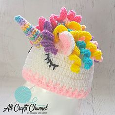 This hat can be made in various sizes. Pattern gives hook/size suggestions.