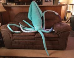 Squishy the Giant Squid! FiZe Fluffies stuffed/plush animal! Any color/pattern! 10ft long!