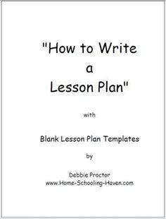 Free Printable Lesson Plan Template | Search Results | New ...
