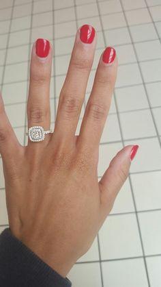 62 big wedding rings which look gorgeous. Princess Wedding Rings, Wedding Rings Simple, Wedding Rings Solitaire, Beautiful Wedding Rings, Princess Cut Rings, Wedding Rings Vintage, Wedding Jewelry, Dream Wedding, Bridal Rings