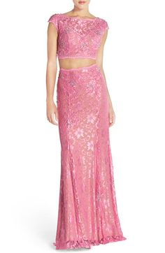 Jovani Embellished Lace Two-Piece Gown available at #Nordstrom