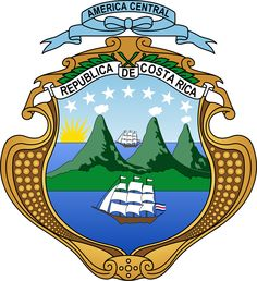 El actual escudo de Costa Rica ~ The current Coat-of-Arms of Costa Rica.