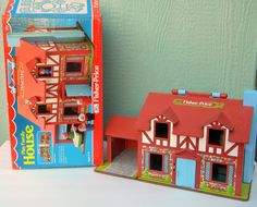 Vintage Fisher Price Little People Tudor House by ThatsHappyShop, $35.00
