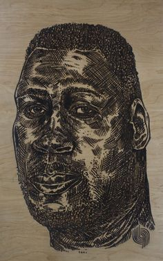 Duckworth: Ink And Laser Cut On Wood Board By Hingyi Khong