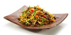 Chinese beef and noodle stir-fry
