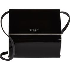 Givenchy Plexiglass Micro Pandora Box (20.455 NOK) ❤ liked on Polyvore featuring bags, handbags, shoulder bags, black, black handbags, givenchy purse, black crossbody purse, crossbody flap purse i round purse