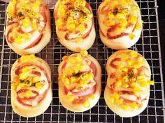 簡単 惣菜パン 《ハム・コーン》の画像